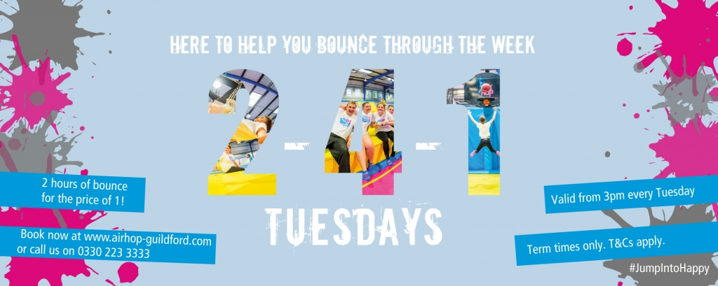 2cf87fad32 Double the fun for half the price! Book a standard bounce and get the  second hour free.